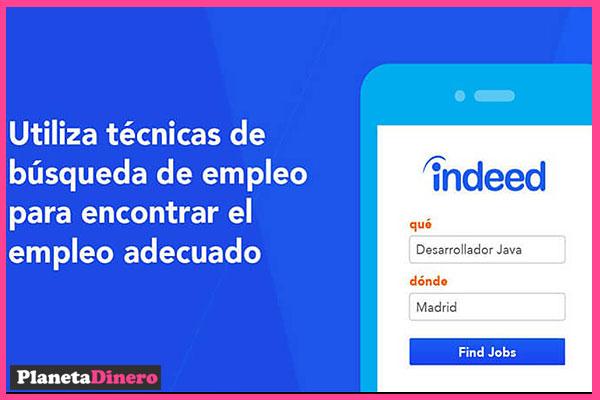 indeed.com para buscar empleo